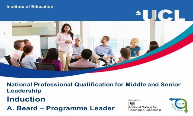 NPQML and NPQSL Induction Sep 2016 - Programme Information - Leadership CoLab