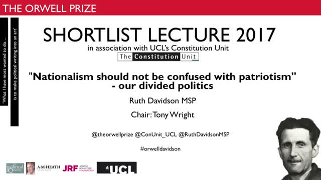The Orwell Prize Shortlist Lecture 2017 - Routh Davidson (short version)