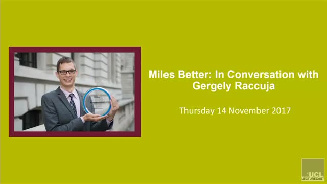 Miles Better: In Conversation with Gergely Raccuja
