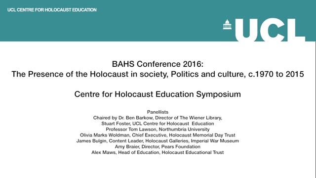 Centre for Holocaust Education Symposium