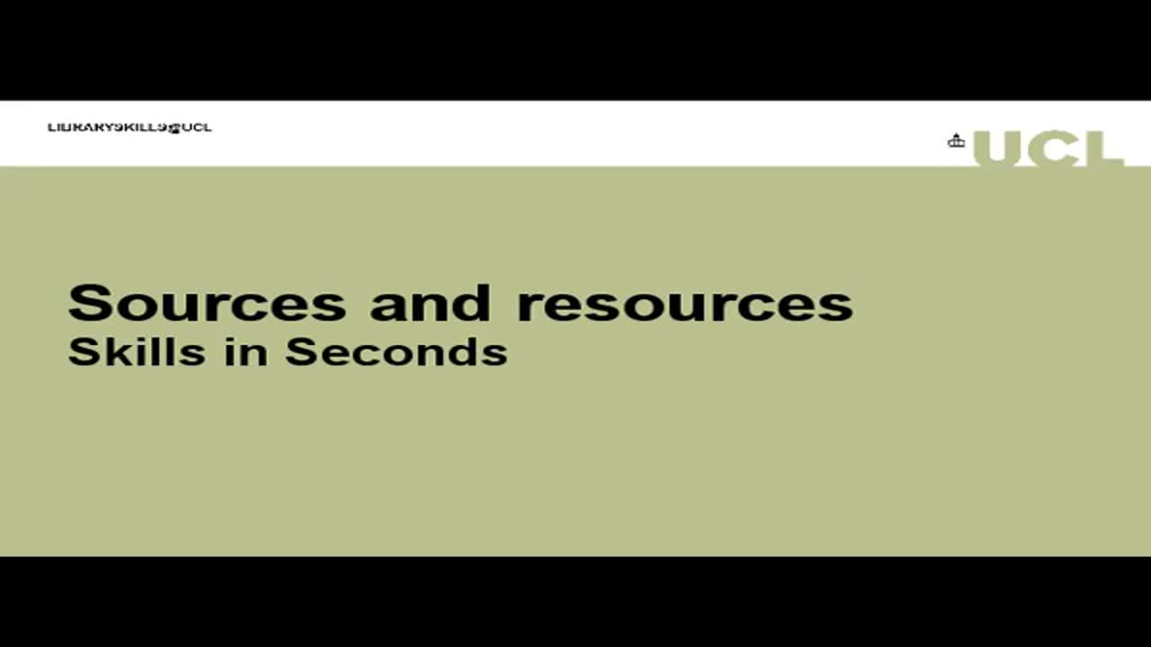 Sources and resources: what's what in the Library