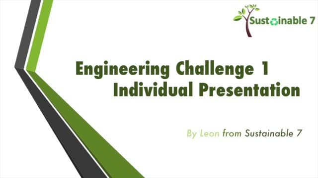 ChemEng Challenge 1 Individual Presentation