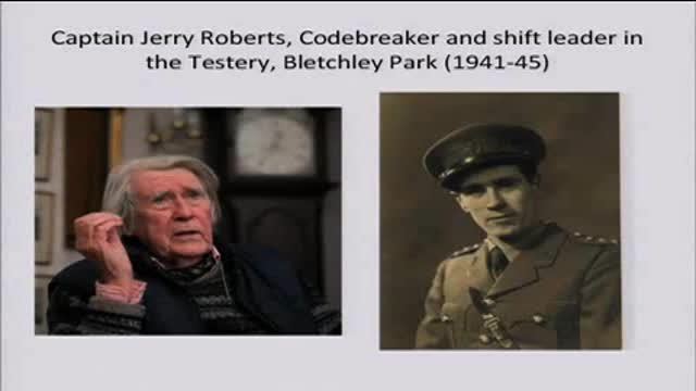Captain Jerry Roberts Codebreaker - Bletchley Park