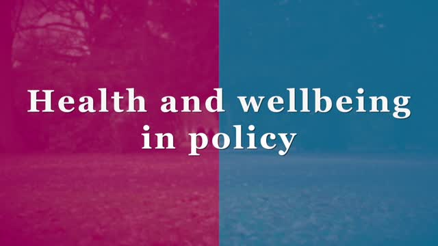 Introduction film 3 - health and wellbeing in policy