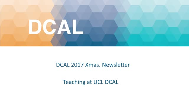 2017 DCAL Xmas Newsletter - Robert Adam - Teaching
