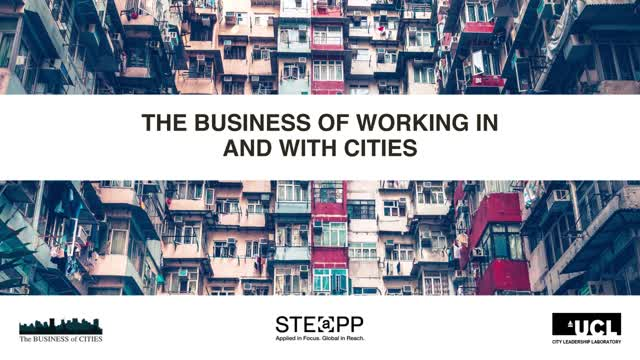 The Business of working with Cities - Dr Tim Moonen