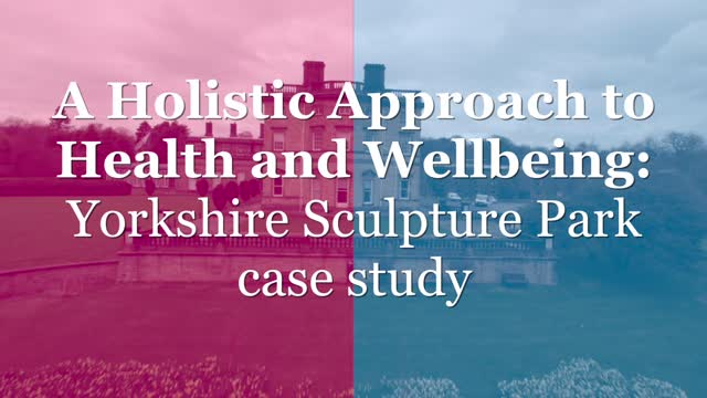 A holistic approach to health and wellbeing: Yorkshire