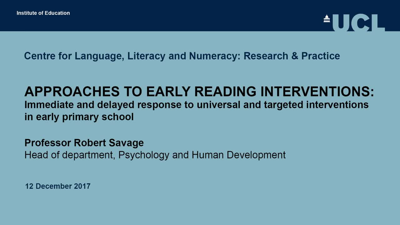 Approaches to early reading interventions: immediate and delayed response to universal and targeted interventions in early primary school