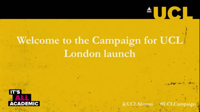 UCL Campaign Launch - How Will Society Survive Into The 22nd Century?